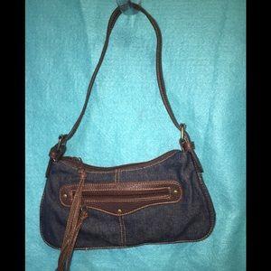 Steve Madden's Blue Denim Clutch Handbag Purse